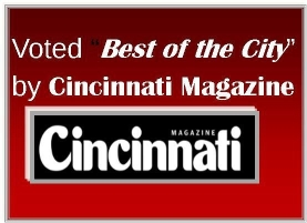 Voted Best of the City by Cincinnati Magazine