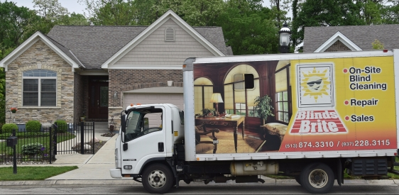 Blinds Brite Truck at Your Location